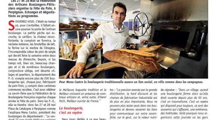 Manu Castro artisan boulanger fête du pain perpignan