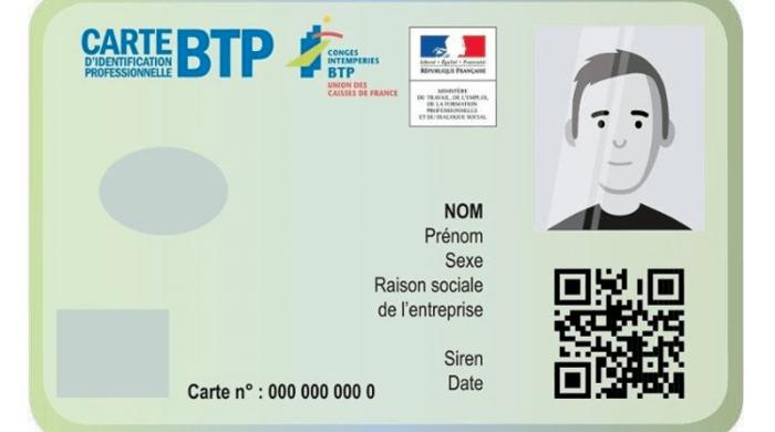 Carte BTP : le montant de