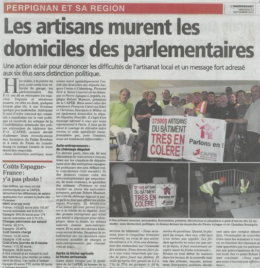 artisans catalans murent les députés
